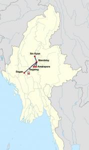Flusskreuzfahrt von Bagan nach Mandalay mit der Belmond Road to Mandalay