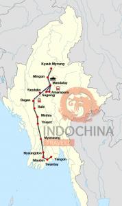 Flusskreuzfahrt auf dem Irrawaddy von Yangon bis Mandalay