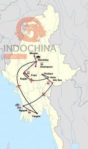 Private Klassische Myanmar-Reise mit Badeurlaub in Ngapali