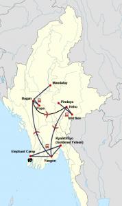 Private Myanmar Rundreise mit Besuch eines Elefantencamps