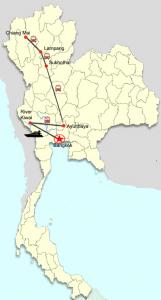 Privatreise entlang des Flusses Kwai zu den Ursprüngen Thailands