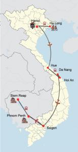 Große Vietnam-Kambodscha Rundreise