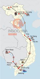 Vietnam und Kambodscha intensiv mit Zugfahrt