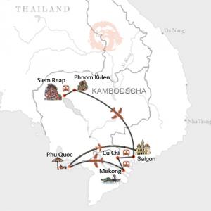 Vietnams Süden mit Angkor und Baden auf der tropischen Insel Phu Quoc