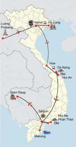 Indochina intensiv mit Badeurlaub in Phan Thiet/Mui Ne oder auf Phu Quoc